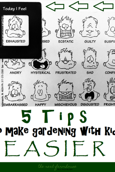 Five tips to make gardening with young kids easier