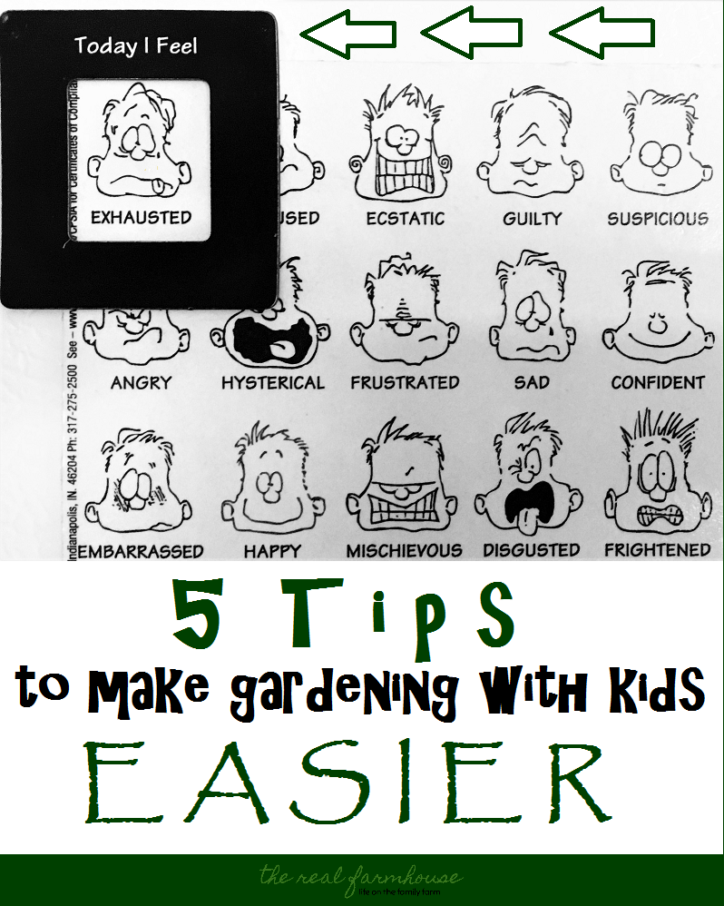 5 tips to make gardening with kids easier. Have a fun time with your young kids in the garden with these 5 simple tips!