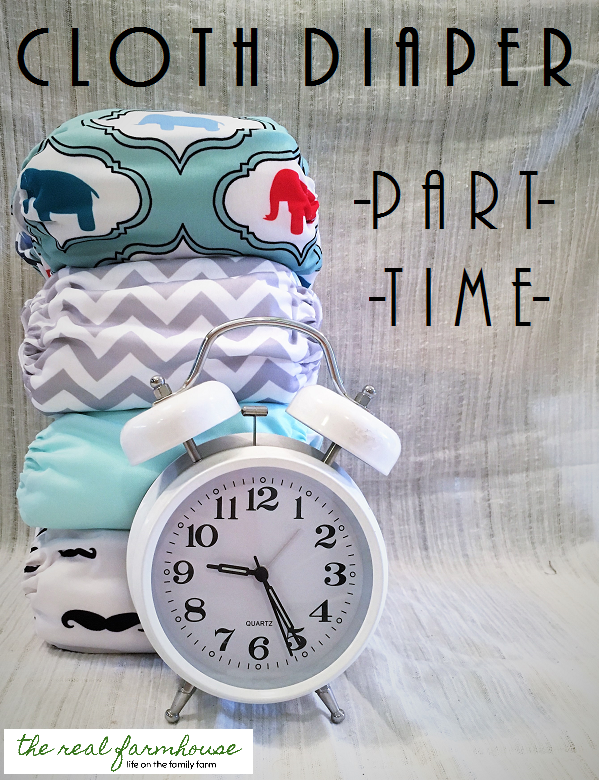 part time cloth diapering! take the stress out of using cloth.