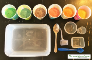 beautiful homemade edible play sand. perfect hands on activity for the kids!