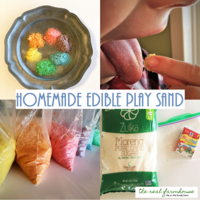 How to make edible play sand