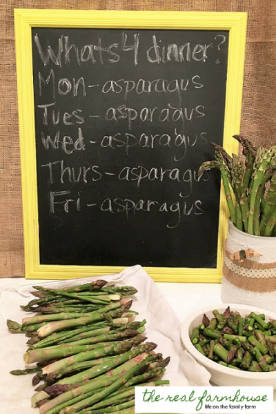 Freeze ALL THAT asparagus … FAST!!