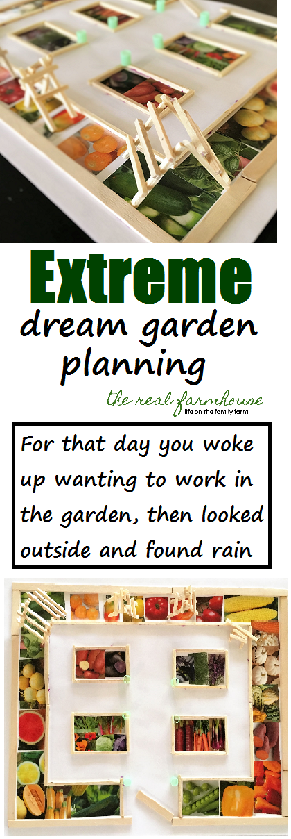 Extreme, dream garden planning. For that day when you woke up wanting to work in your garden all day, then looked outside and it was raining.
