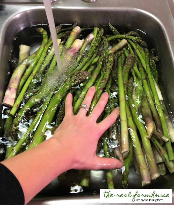 What to do with ALL THAT asparagus .... FAST!!! How to freeze asparagus super fast.