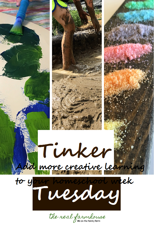 fun idea on how to add more creative learning to your homeschool. start tinkering!