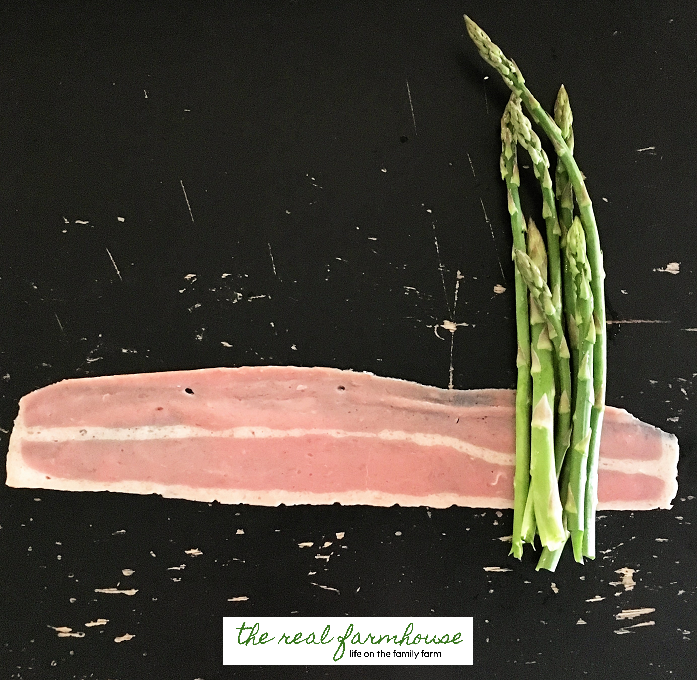 juicy, salty, turkey bacon wrapped asparagus. seriously as delicious as it sounds!