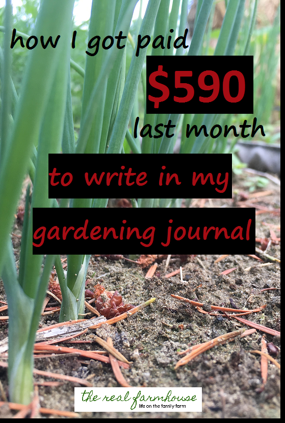 Do you write in your gardening journal? You should get paid for it too!