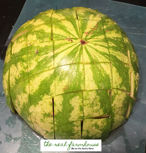 How to make watermelon chips. How to save an over-ripe watermelon