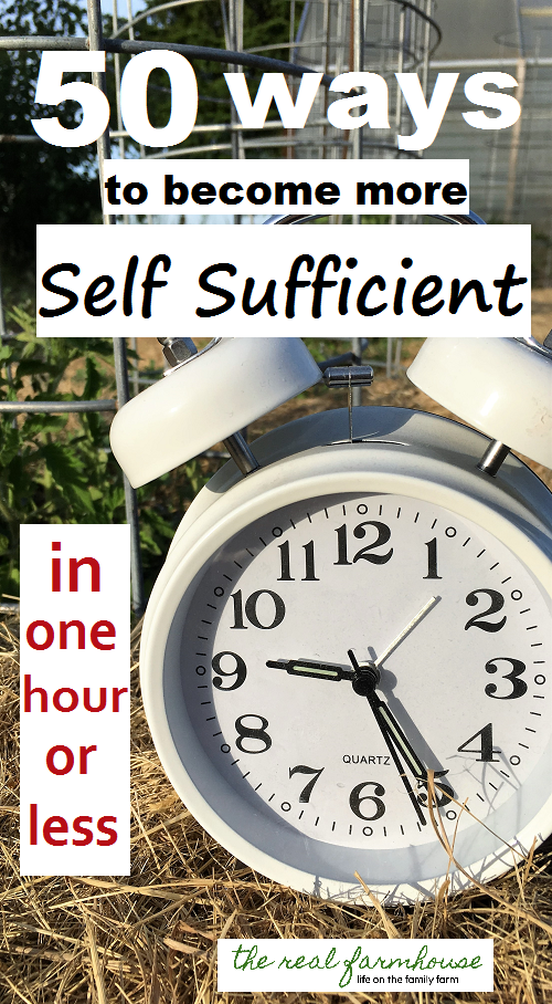 50 ideas and resources to becoming more self sufficient right now