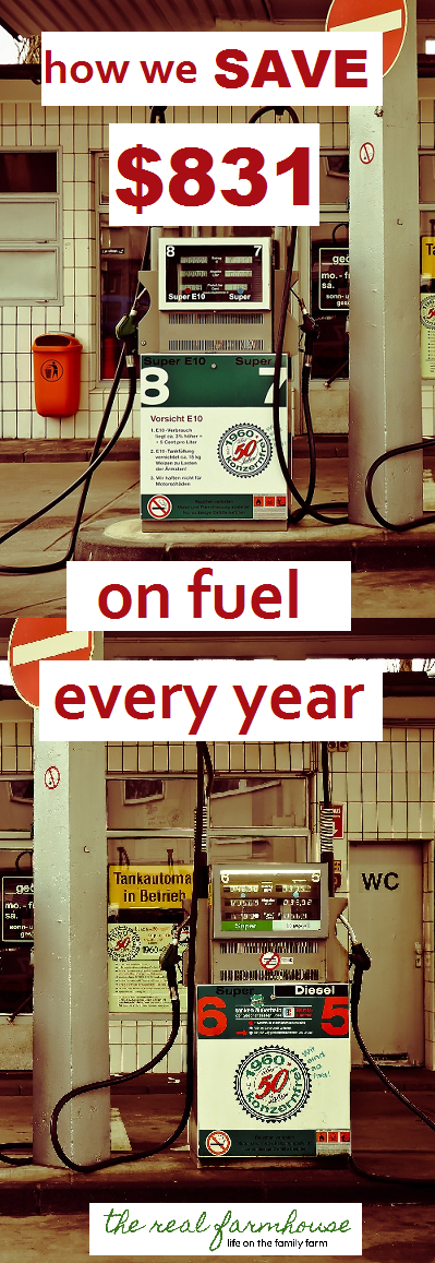 we save hundreds, sometimes thousands on fuel each year by doing theses two things