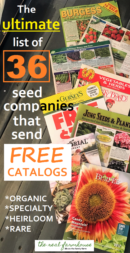 36 seed companies that send free catalogs right to your door. How to get tons
