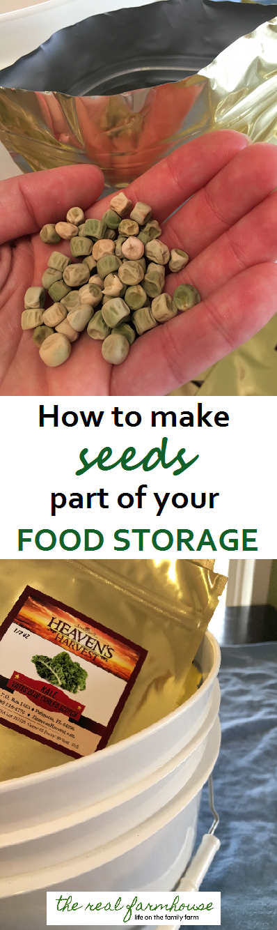 instant seed vault! quick and easy way to start your own heirloom seed vault for prepping or food storage.