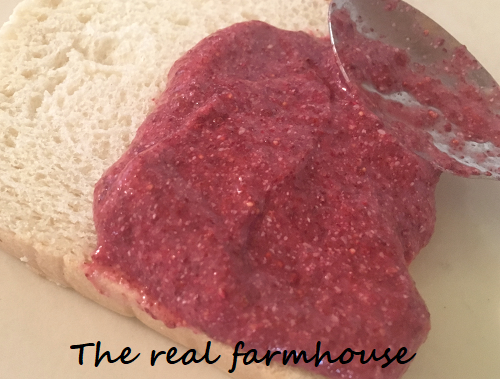 Stupid easy chia seed and strawberry jam. Fast, fresh, all natural, sugar free, delicious homemade freezer jam
